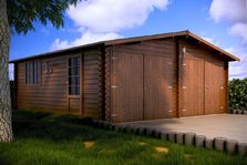 Houten garage Zuid-Holland 6x6m 44mm